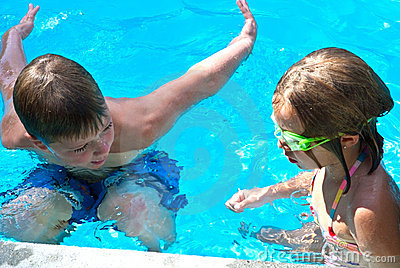 Swim Lesson/Boy and Girl