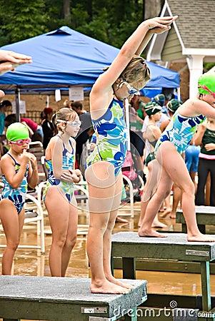 Swim Meet / Platform Ready Editorial Stock Photo