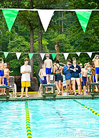 Swim Meet / Platform Ready Editorial Photo