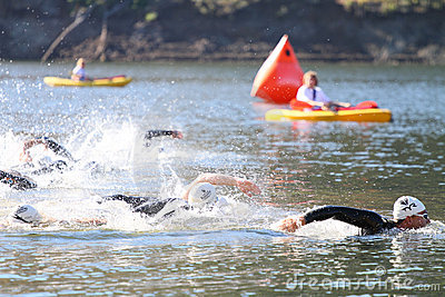 Swim race triathlon Editorial Photo