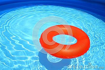 Swim ring in a swimming pool
