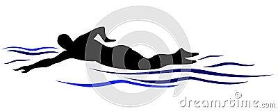 Swim silhouette