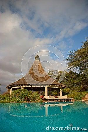 Swiming pool in a lodge