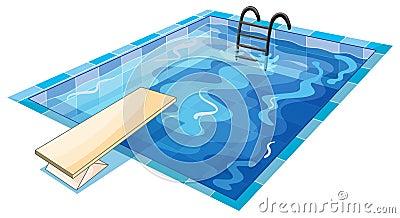 A swiming tank