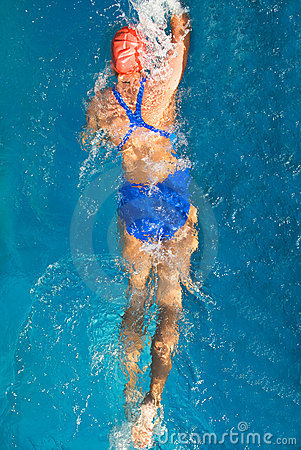 Free Swimmer Royalty Free Stock Photos - 3398248