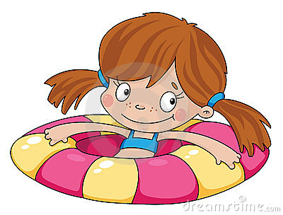 Swimmer funny girl