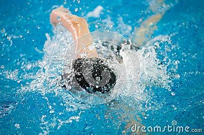Swimmer swims