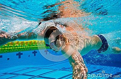 Swimmer Underwater