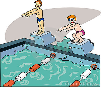 Swimmers Swimming