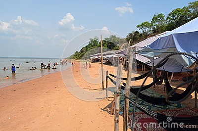 Swimming area in the Western Baray. Siem Reap. Cam