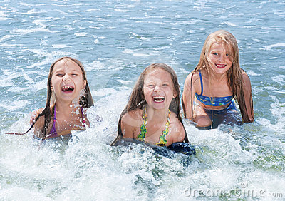 swimming children