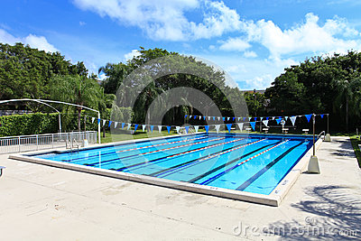 Swimming competition Pool