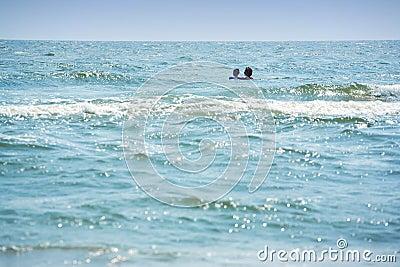 Swimming far