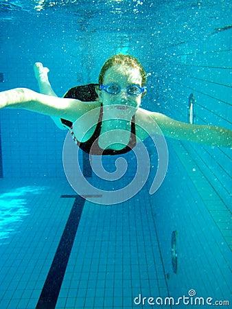Free Swimming Girl Stock Photo - 5168780