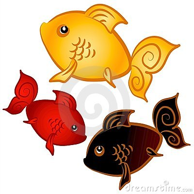Swimming Goldfish Clip Art