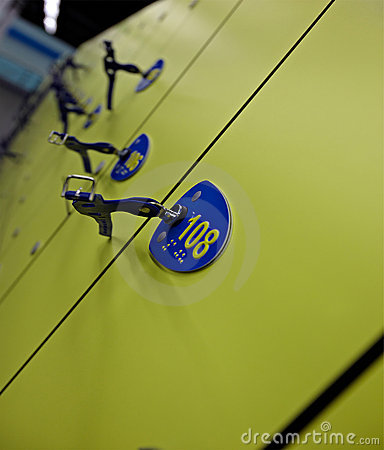 Swimming lockers with keys