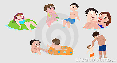 Swimming People Icons