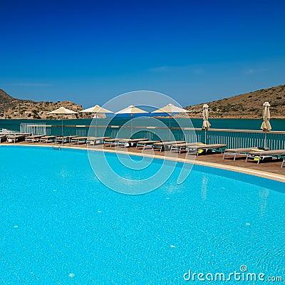 Swimming pool area,