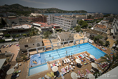Swimming Pool Area Editorial Stock Photo