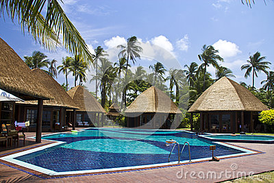 Swimming pool of Aureum Palace Resort Editorial Stock Image
