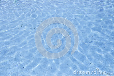Swimming pool blue water