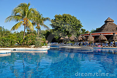 Swimming Pool Of Caribbean Hotel Royalty Free Stock Photography - Image: 4544187