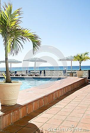 Free Swimming Pool Caribbean Sea Barbados Royalty Free Stock Images - 28096769