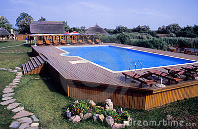 Swimming pool and deck