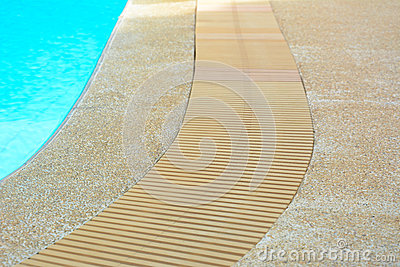 Swimming Pool Edge With Drain Stock Photo Image 49728125