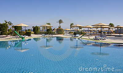 Swimming Pool. Egypt. Royalty Free Stock Image - Image: 12881476