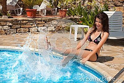 Swimming-pool fun