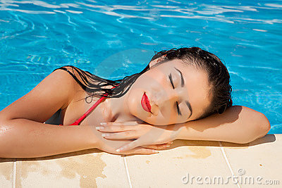 Swimming pool girl