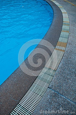 Swimming pool gutter
