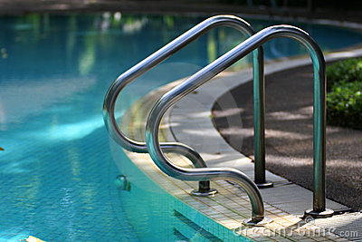 Swimming pool handrail royalty free stock image image - Removable swimming pool handrails ...