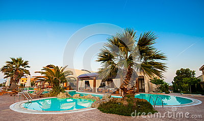 Swimming pool in a holiday resort