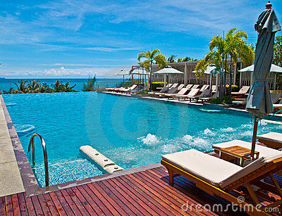 Swimming Pool Of A Hotel Near The Pattaya Beach Stock Images Image 20537384