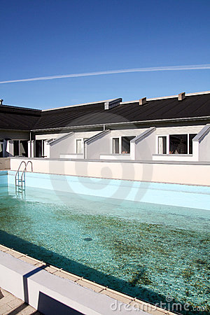 Swimming pool and houses