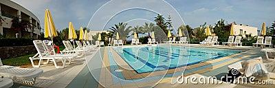 Swimming pool of the Iberostar Creta Marine Editorial Photo