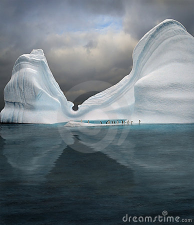 Swimming pool in iceberg