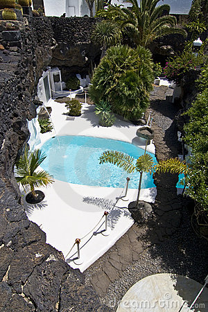 Free Swimming Pool In Natural Volcanic Rock Area Stock Image - 16114481