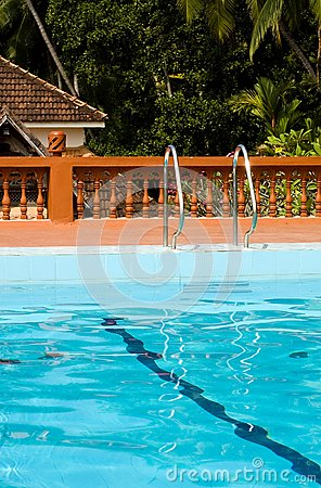 Swimming pool in indian holiday resort