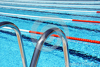 Swimming Pool Lane Ropes And Ladder Royalty-Free Stock ...