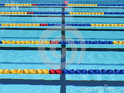 Swimming Pool Lane Ropes Royalty-Free Stock Image ...