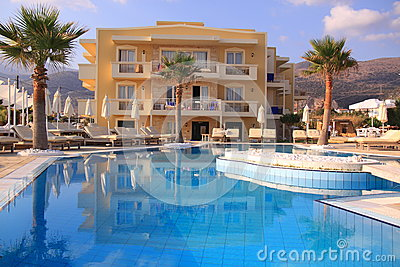 Swimming pool luxury resort
