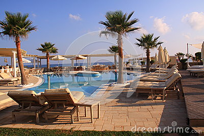 Swimming pool luxury resort