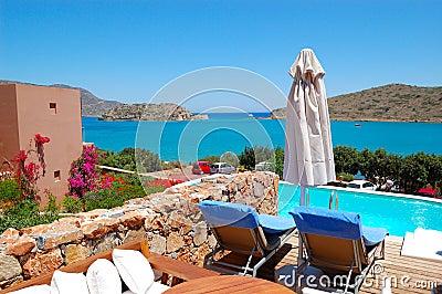 Swimming pool by luxury villa