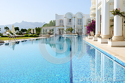 Swimming pool at luxury villa