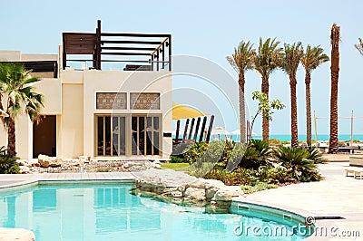 Swimming pool at the luxury villa