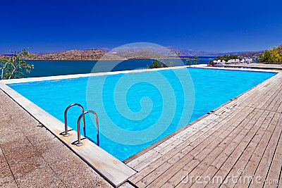 Swimming pool at Mirabello Bay