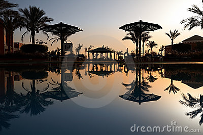 Swimming pool at morning